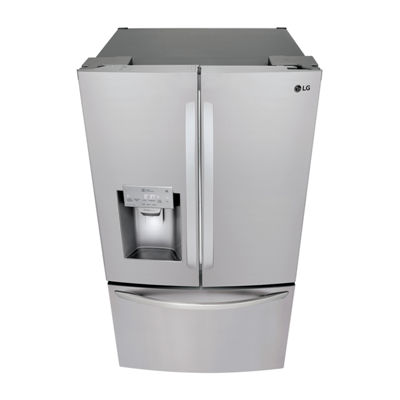 LG ENERGY STAR® 28 cu.ft. Smart Wi-Fi Enabled 3-Door French Door Refrigerator