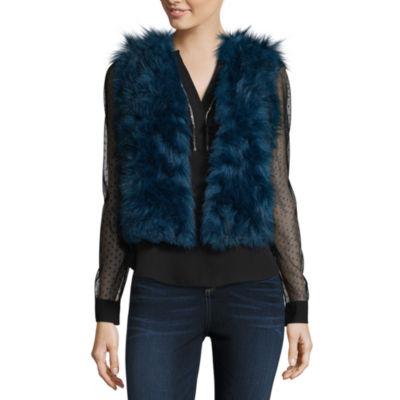 Libby Edelman Faux Fur Vest