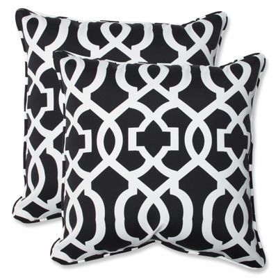 Pillow Perfect New Geo Square Outdoor Pillow - Setof 2