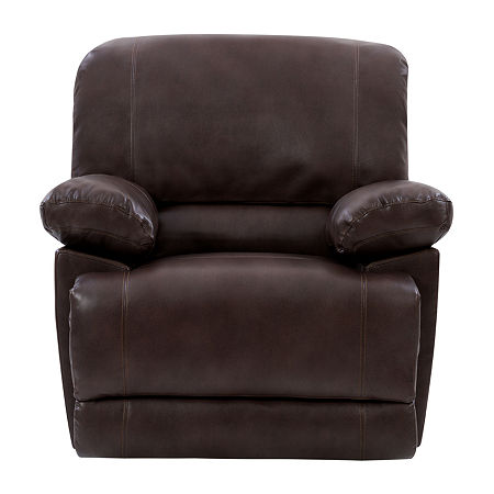 Lea Pad-Arm Recliner, One Size , Brown