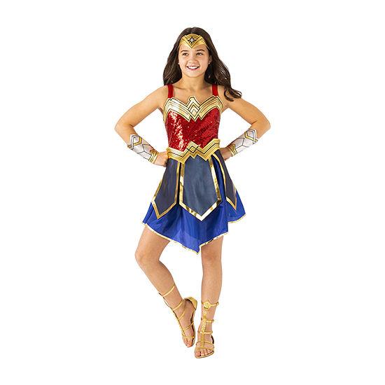 Child WW2 Movie Wonder Woman Deluxe Girls Costume