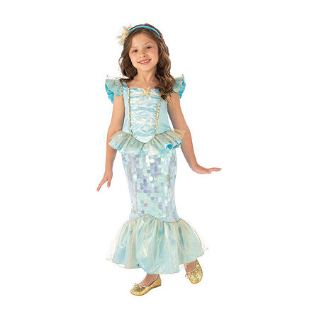 Child Mermaid Girls Costume, Large , Blue