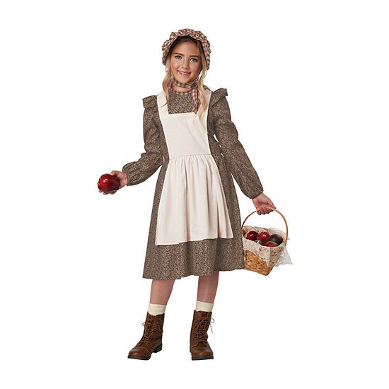 Child Brown Frontier Settler Girls Costume