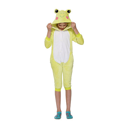 Child Frog Jumpsuit Unisex Costume, Large , Green