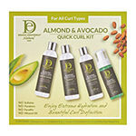 Design Essentials Almond Avocado Quick Curls Box 4-pc. Value Set - 22 oz.