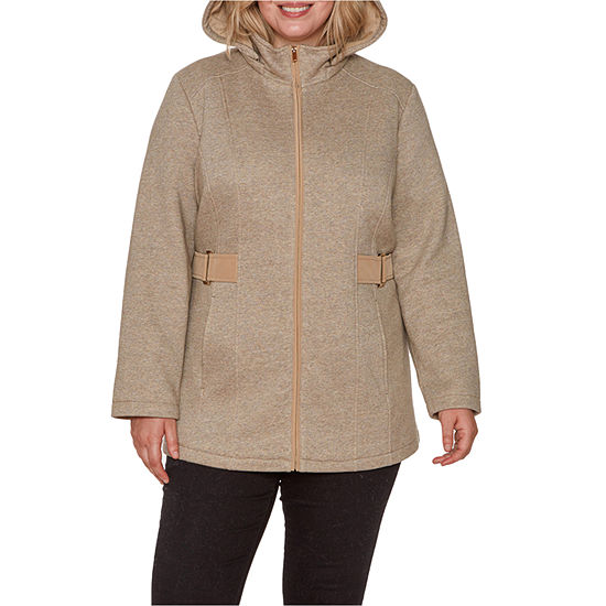Liz Claiborne Fleece Midweight Jacket-Plus