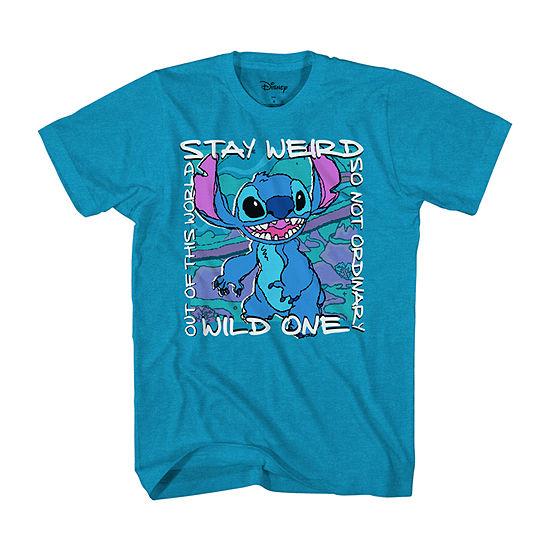 Disney Little & Big Boys Crew Neck Short Sleeve Graphic T-Shirt