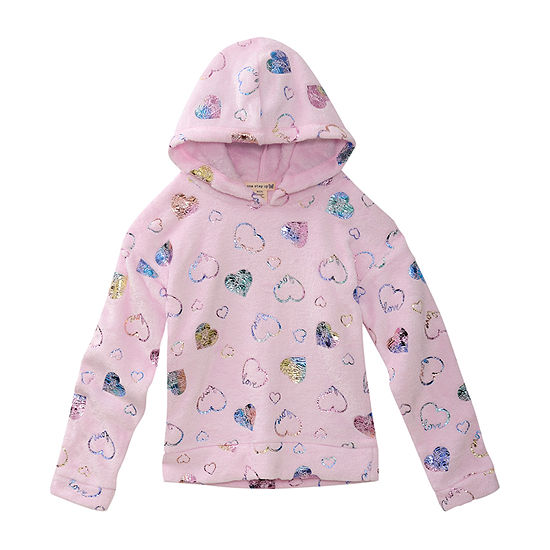 One Step Up Little Girls Hoodie