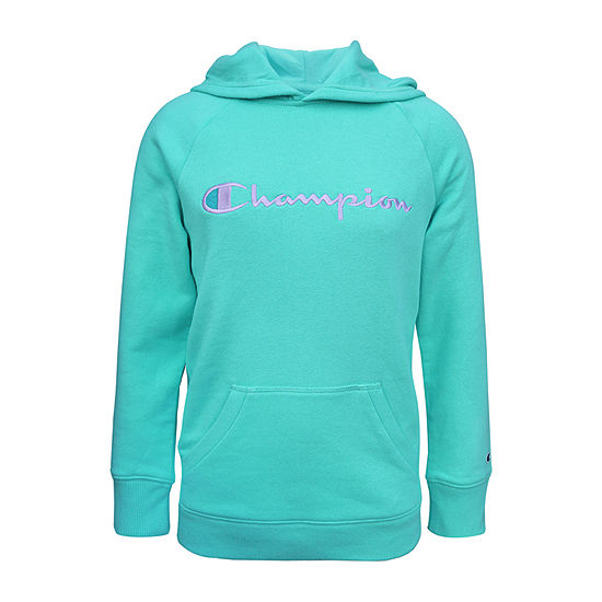 Champion Fleece Big Girls Embroidered Hoodie