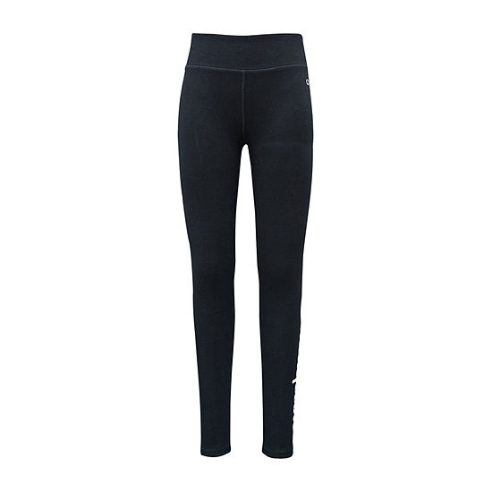 Champion Big Girls Mid Rise Full Length Leggings