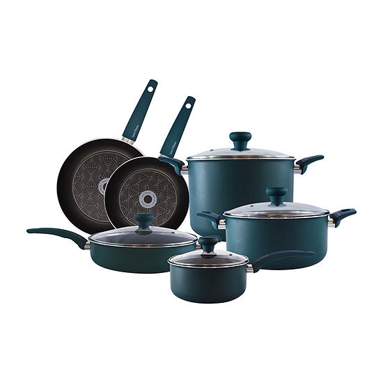 Taste Of Home 10-pc. Aluminum Dishwasher Safe Non-Stick Cookware Set