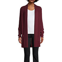 Deals on St. John's Bay Womens Long Sleeve Open Front Cardigan