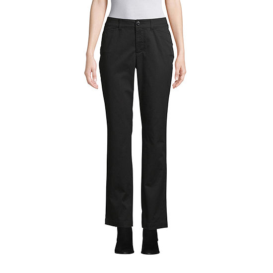 St. John's Bay-Tall Secretly Slender Womens Mid Rise Straight Pant