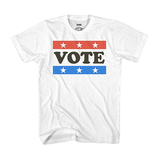 Election Mens Crew Neck Short Sleeve Americana Graphic T-Shirt