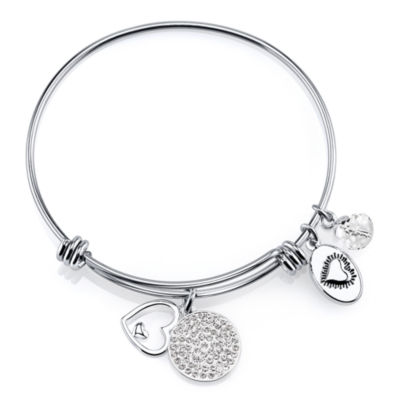 Footnotes Too® Follow Your Heart  Stainless Steel Expandable Bangle