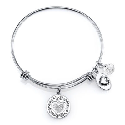 Footnotes Too® Stainless Steel Mother Daughter Expandable Bangle