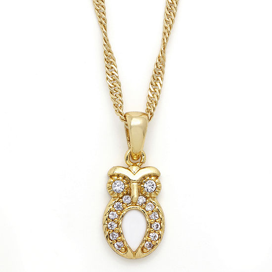 Sparkle Allure™ Cubic Zirconia Owl Pendant Necklace