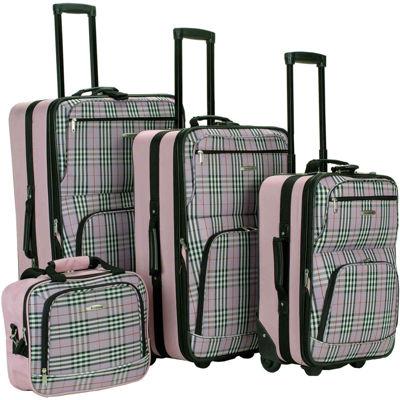 Rockland Fashion 4-pc. Luggage Set