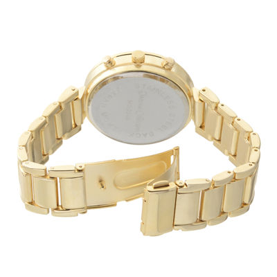 Journee Collection Womens Gold Tone Bracelet Watch-Jc-12349-Gld-Gld