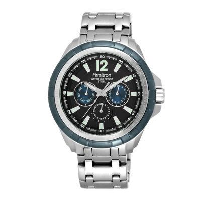 Armitron® All-Sport® Mens Stainless Steel Watch 20/5095BKBL