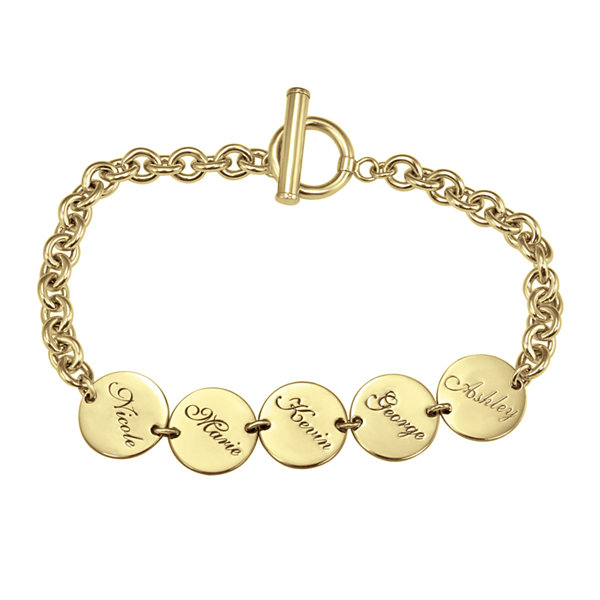 Personalized Disk Family Bracelet
