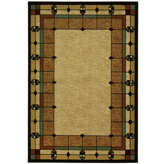 Bacova Stained Glass Rectangular Rug