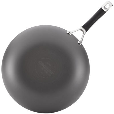 "Circulon® Momentum 12"" Hard-Anodized Nonstick Stir-Fry Pan"