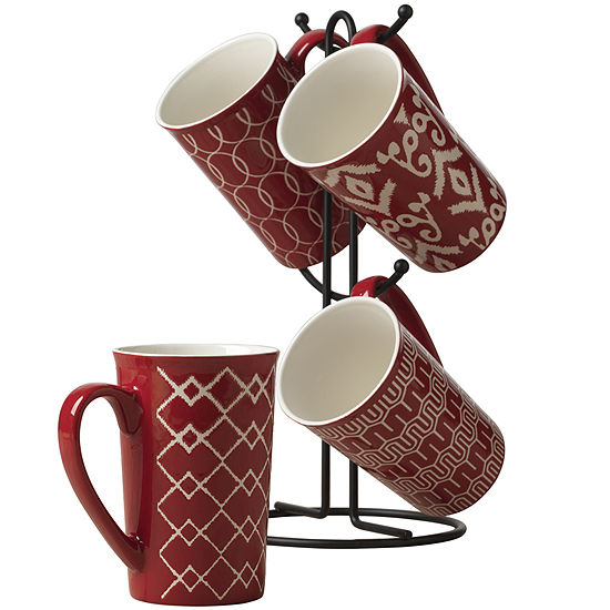 Tabletops Gallery® Red 5-pc. Mug Tree Set