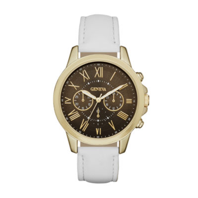 Geneva Womens Gold-Tone Strap Watch