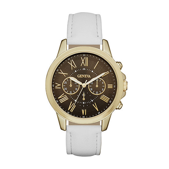 Geneva Womens Gold Tone Strap Watch