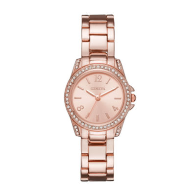 Geneva Womens Rose Gold Bracelet Watch