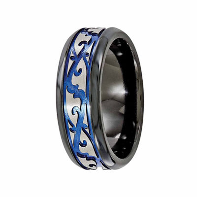 Edward Mirell Mens 9 Mm Titanium Wedding Band