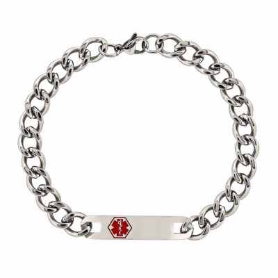 Mens 9.5 Inch Stainless Steel Chain Bracelet
