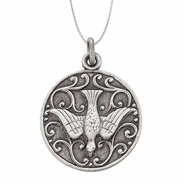 Sterling silver rhodium oxidized antique holy spirit dove 18 sterling silver rhodium oxidized antique holy spirit dove 18 pendant necklace aloadofball Images
