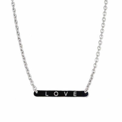 "Sterling Silver Polished ""Love"" Necklace"