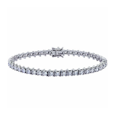 Diamonart Womens 4 1/2 CT. T.W. Cubic Zirconia Tennis Bracelet