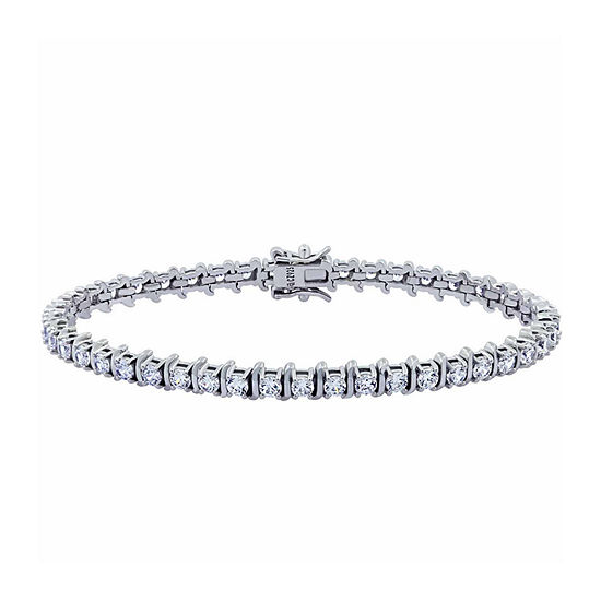 DiamonArt® Womens 4 1/2 CT. T.W. Cubic Zirconia Tennis Bracelet