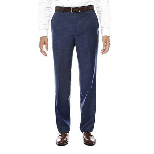 Stafford Plaid Stretch Classic Fit Suit Pants