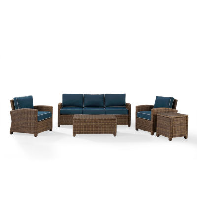 Crosley Bradenton Wicker 5-pc. Patio Lounge Set