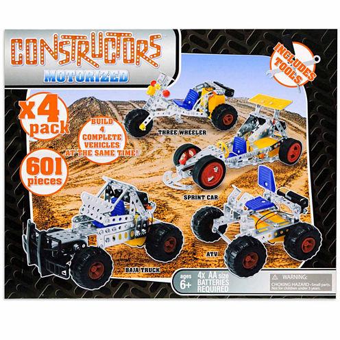 4 In 1 Motorized Metal Constructors Set