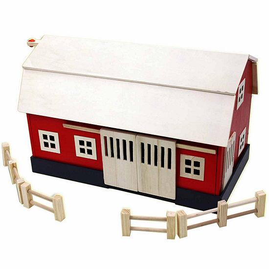 Homewear Big Red Wooden Toy Barn