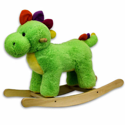 24In Green Plush Rocking Dinosaur