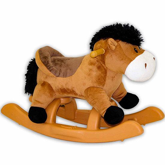 """Ponyland 24"""" Brown Plush Rocking Horse"""""""