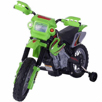 6V Battery Operated Ride-On Motorcycle- Green