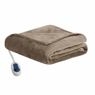 Beautyrest Oversized Plush Heated Electric Throws