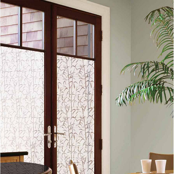 35inx78in Bamboo Door Privacy Film