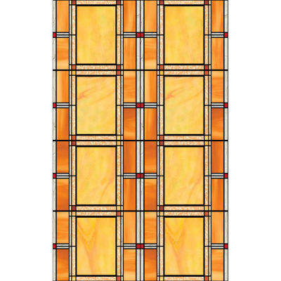 17in x 78in Arts and Crafts Stained Glass Window Film- Set of 2