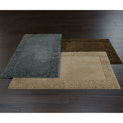 JCPenney Home Shag Border Washable Rug Collection