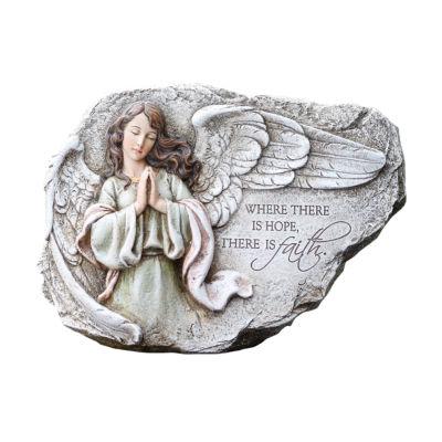"8.25"" Praying Angel Outdoor Plaque"