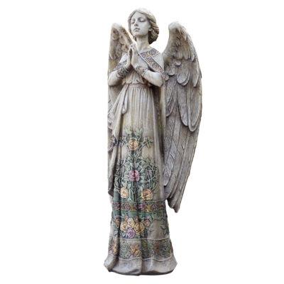 """24"""" Rose Praying Angel Outdoor Statue"""